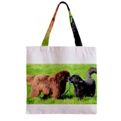 2 Newfies Zipper Grocery Tote Bags