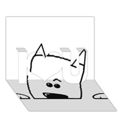 Peeping Westie I Love You 3D Greeting Card (7x5)