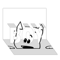 Peeping Westie BOY 3D Greeting Card (7x5)