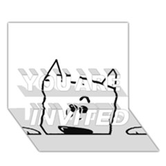 Peeping Westie YOU ARE INVITED 3D Greeting Card (7x5)