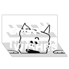 Peeping Westie Best Wish 3D Greeting Card (8x4)
