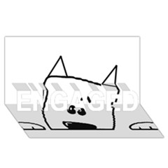Peeping Westie ENGAGED 3D Greeting Card (8x4)