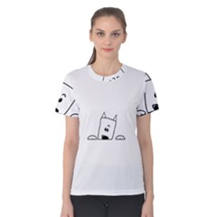 Peeping Westie Women s Cotton Tees