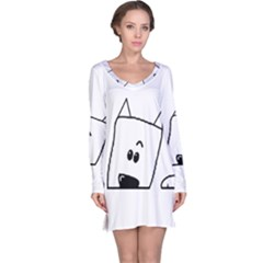 Peeping Westie Long Sleeve Nightdresses