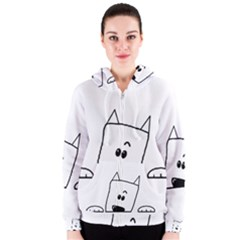 Peeping Westie Women s Zipper Hoodies