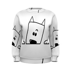 Peeping Westie Women s Sweatshirts