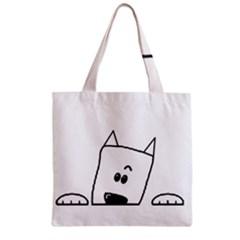 Peeping Westie Zipper Grocery Tote Bags