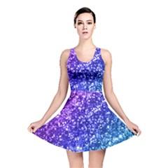 Glitter Ocean Bokeh Reversible Skater Dresses