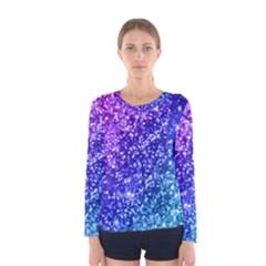 Glitter Ocean Bokeh Women s Long Sleeve T-shirts