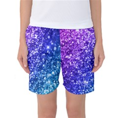 Glitter Ocean Bokeh Women s Basketball Shorts