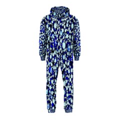 Bright Blue Cheetah Bling Abstract  Hooded Jumpsuit (Kids)