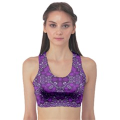 Crazy Beautiful Abstract  Sports Bra