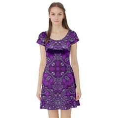 Crazy Beautiful Abstract  Short Sleeve Skater Dresses