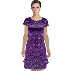 Crazy Beautiful Abstract  Cap Sleeve Nightdresses