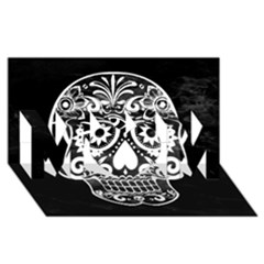 Skull MOM 3D Greeting Card (8x4)