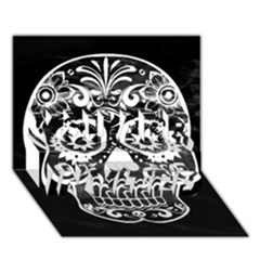 Skull You Are Invited 3d Greeting Card (7x5)