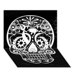 Skull Ribbon 3d Greeting Card (7x5)
