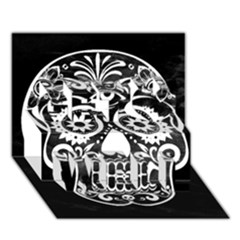 Skull Get Well 3d Greeting Card (7x5)