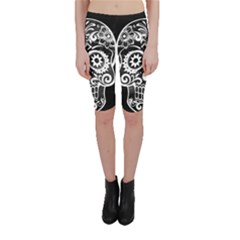 Skull Cropped Leggings