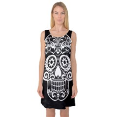 Skull Sleeveless Satin Nightdresses