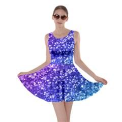 Glitter Ocean Bokeh Skater Dresses