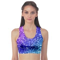 Glitter Ocean Bokeh Sports Bra