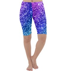 Glitter Ocean Bokeh Cropped Leggings