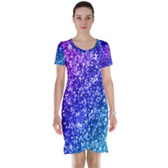 Glitter Ocean Bokeh Short Sleeve Nightdresses