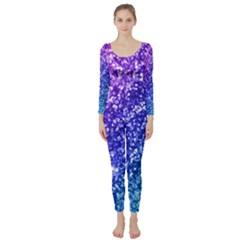 Glitter Ocean Bokeh Long Sleeve Catsuit