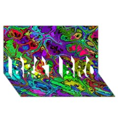 Powerfractal 4 BEST BRO 3D Greeting Card (8x4)