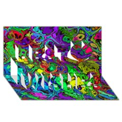 Powerfractal 4 Best Wish 3d Greeting Card (8x4)