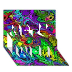 Powerfractal 4 Get Well 3d Greeting Card (7x5)