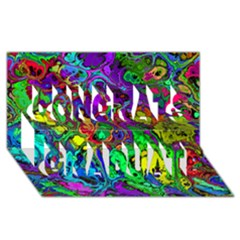 Powerfractal 4 Congrats Graduate 3D Greeting Card (8x4)