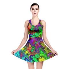Powerfractal 4 Reversible Skater Dresses