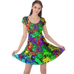 Powerfractal 4 Cap Sleeve Dresses