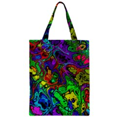 Powerfractal 4 Zipper Classic Tote Bags