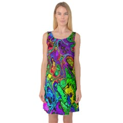 Powerfractal 4 Sleeveless Satin Nightdresses