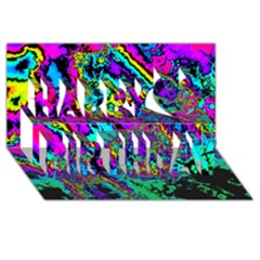 Powerfractal 2 Happy Birthday 3D Greeting Card (8x4)