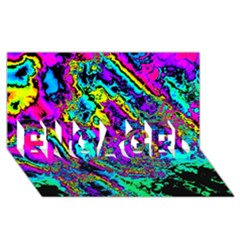 Powerfractal 2 Engaged 3d Greeting Card (8x4)