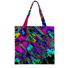 Powerfractal 2 Grocery Tote Bags