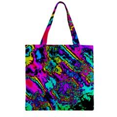 Powerfractal 2 Zipper Grocery Tote Bags