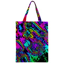Powerfractal 2 Zipper Classic Tote Bags