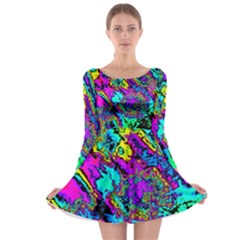 Powerfractal 2 Long Sleeve Skater Dress