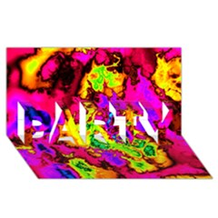 Powerfractal 01 Party 3d Greeting Card (8x4)