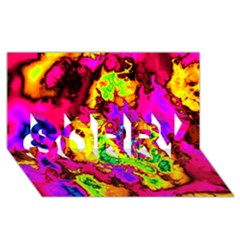 Powerfractal 01 SORRY 3D Greeting Card (8x4)