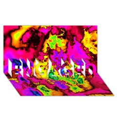 Powerfractal 01 ENGAGED 3D Greeting Card (8x4)