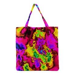 Powerfractal 01 Grocery Tote Bags