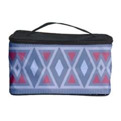 Fancy Tribal Border Pattern Blue Cosmetic Storage Cases