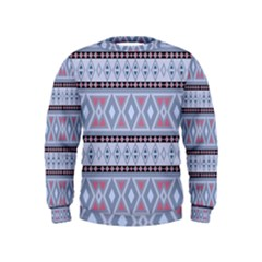 Fancy Tribal Border Pattern Blue Boys  Sweatshirts