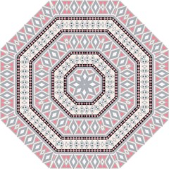 Fancy Tribal Border Pattern Soft Folding Umbrellas